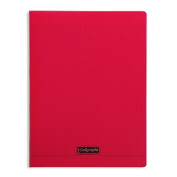 CAHIER 96 PAGES 17X22 Rouge