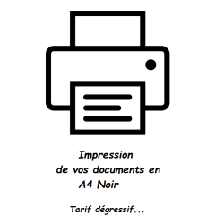 Impression de document A4 Noir