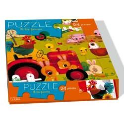 A la ferme puzzle 24 pièces