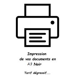 Impression de document A3 Noir