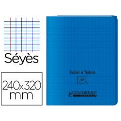 Cahier rabat 24*32cm Bleu