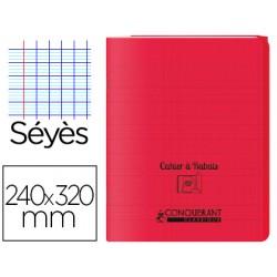 Cahier rabat 24*32cm rouge