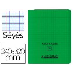 Cahier rabat 24*32cm vert