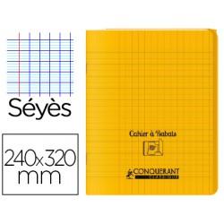 Cahier rabat 24*32cm jaune